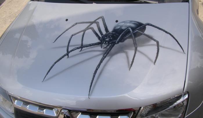 аэрографияс пауками:
