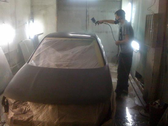 Покраска авто металликом своими руками в гараже 43