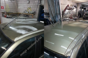 Покраска крыши авто: до и после