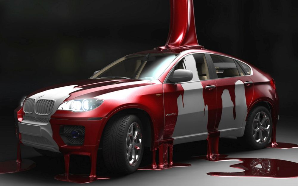 Покраска авто двумя цветами фото