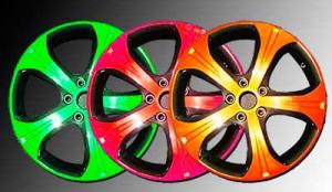 разноцветные колесные диски