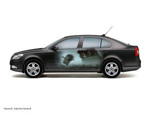 Эскиз аэрографии на автомобиле Skoda
